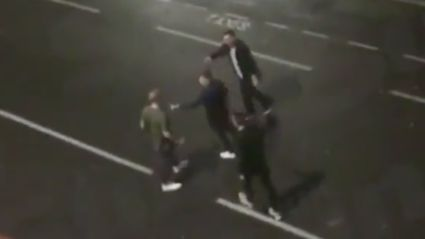 Footage has emerged of Ben Stokes allegedly in street brawl
