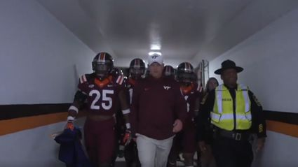 "Watch Virginia Tech epic entrance featuring Metallica's ""Enter Sandman"""