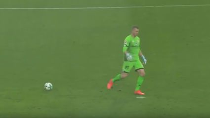 German goalie mistakes penalty spot for ball