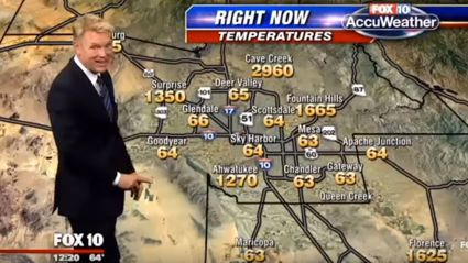 Weatherman has hilarious reaction to terrifying map