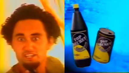 Remember this horrific 'Top Secret' energy drink ad?