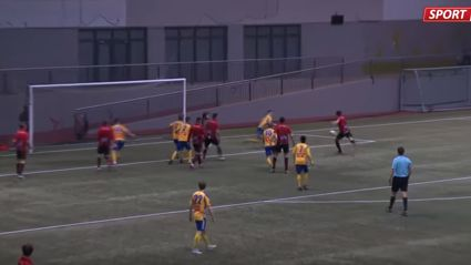 How to score a ripper of an own goal off your teammates face