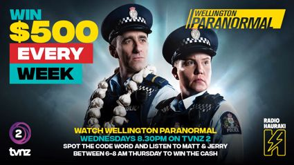 Win $500 with 'Wellington Paranormal'