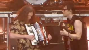 "Watch Weird Al Yankovic join Weezer on stage to play ""Africa"" by Toto"
