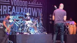 "Watch Dave Grohl play ""In Bloom"" on drums live with Trombone Shorty"