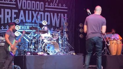 """Watch Dave Grohl play """"In Bloom"""" on drums live with Trombone Shorty"""