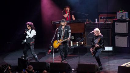 """Watch Johnny Depp & the Hollywood Vampires play David Bowie's """"Heroes"""" live"""