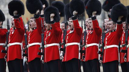 "Watch the Royal Guards play ""Bohemian Rhapsody"" outside  Buckingham Palace"