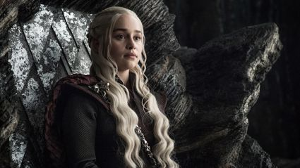 Emilia Clarke tried to swipe the iconic Iron Throne from 'Game of Thrones'