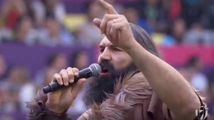 Please enjoy Sébastien Chabal dressed as a caveman singing The Proclaimers