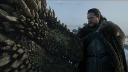 """Emilia Clarke """"feels weird"""" about Kit Harington riding her dragons on 'Game of Thrones'"""