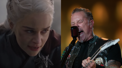 Daenerys attacking King's Landing with a Metallica soundtrack is perfection