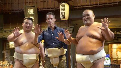 Watch Jerry take on a sumo wrestler