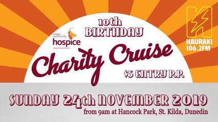 Hauraki presents the Otago Community Hospice Charity Cruise