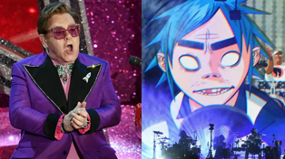 "Listen to Elton John feature on the new Gorillaz song ""The Pink Phantom"""