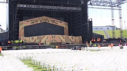 The Rolling Stones Stage Set Up