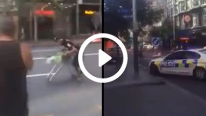 High Speed Trolley Chase On Queen Street