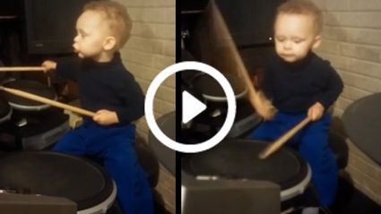 2 Year Old Kid Drums The Foo Fighters